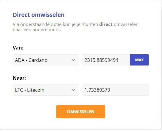 bitcoin meester omwisselen